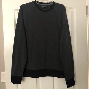 Banana Republic gray and black polartec sweater